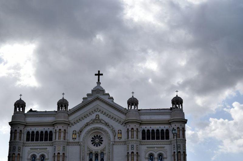 Backlight Churches Cloudy Ornate Shadowy