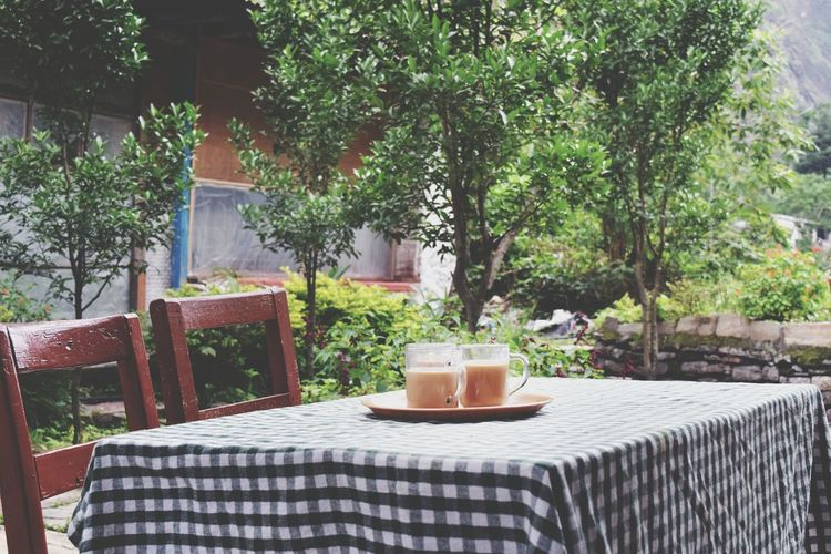 Enjoying Life Muktinathtrek Morning Tea Eye4photography  Photography Nepal Pixlr Edit Eyeemnepal Relaxing At Tatopani, Nepal