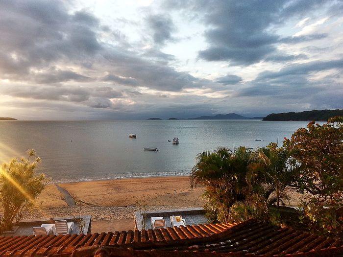 Vocation férias Traveling Island ilha grande Sunset Wallpaper Background oceano Ocean
