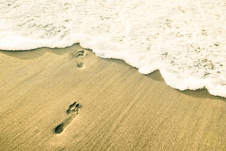 Footprints at
