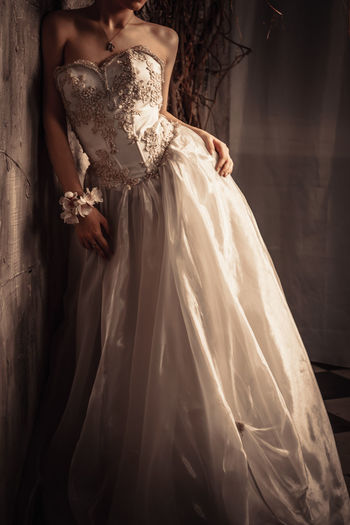 Beautiful Woman Bridal Shop Bride Day Dress Evening Gown Fashion Formalwear Indoors  One Person People Real People Standing Wedding Dress Well-dressed Women Young Adult Young Women