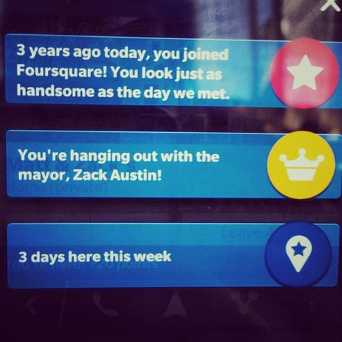 Foursquare for Threeyears