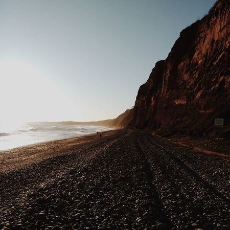 Perspective on Budleigh Salterton beach Beachphotography Beachlife Pebble Beach Pebbles Cliff VSCO Vscocam Vscogood Vscophile Beach Sea Sand Beauty In Nature Sky Nature Outdoors Horizon Over Water Tranquility Travel Destinations No People Vacations Landscape Clear Sky Scenics Water Day