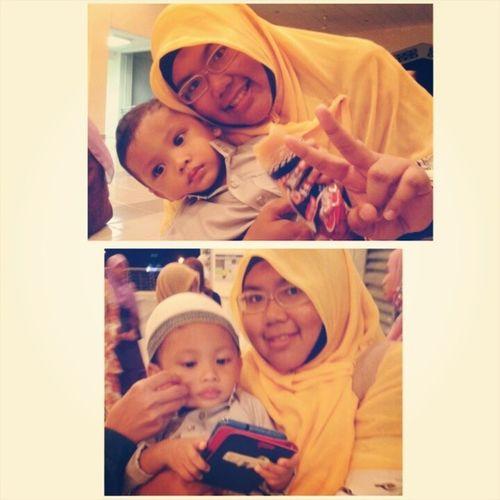 "Cuteness overload !!!! ;) ;) ;) Warga KolejInderaSakti paling comel tahap giga... hoho Naufal !!! ;) ;) ;) ^_^"""" susah nak capture gambau static Naufal... Naufal Cute Baby muslim omeyangat xoxo KIS"