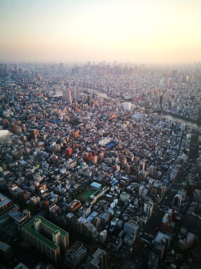 Sunset City Cityscape Tokyoskytree HuaweiP9 Tokyo