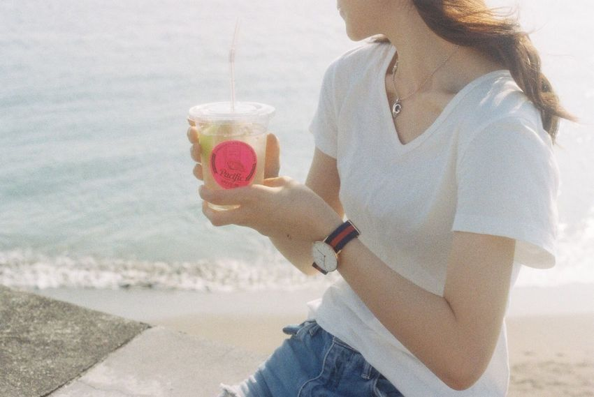EyeEm Best Shots Film Photography 35mm Film Film Analogue Photography Sunny Day Myfriend Portrait Sea Lemonade