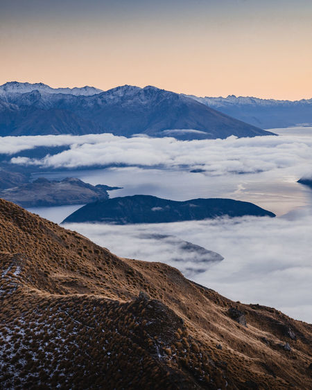Wanaka Beauty In Nature Cloud - Sky Cold Temperature Day Environment Idyllic Landscape Mountain Mountain Peak Mountain Range Nature No People Non-urban Scene Outdoors Royspeak Scenics - Nature Sky Snow Snowcapped Mountain Tranquil Scene Tranquility Winter