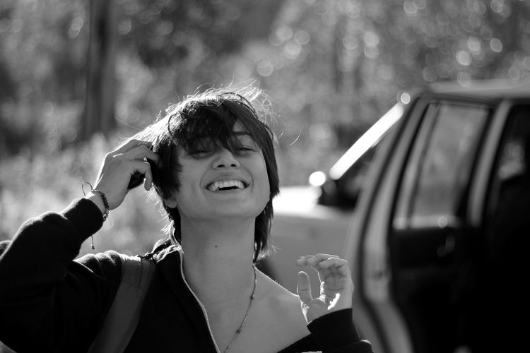 she Free Beautiful Woman Blackandwhite Close-up Day Focus On Foreground Happiness Headshot Leisure Activity Lifestyles One Person Outdoors People Real People Smiling Young Adult Young Women