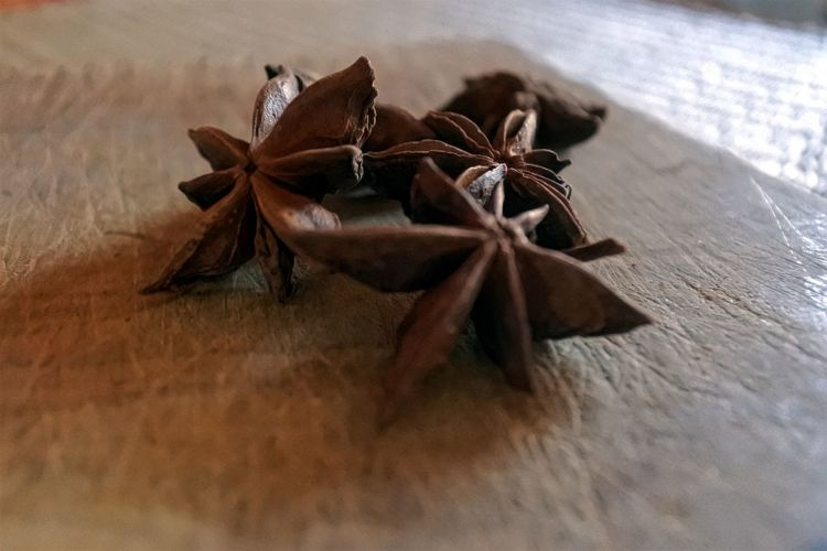 Beauty In Nature Nikon Photography Focus On Background Anise Star Anise Spice Table High Angle View Wood - Material Close-up Food And Drink Dried Food