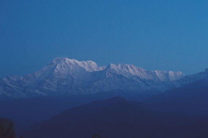 Sunrise Sarangkot Annapurna Range Nepal Travel Mountain Holiday Sightseeing Serene