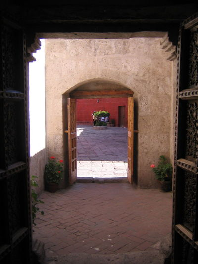 Arch Architecture Archway Arequipa Arequipa - Peru Built Structure Day Doorway Entrance Flower History Indoors  Monastary Monasterio De Santa Catalina No People