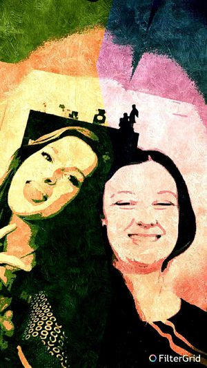 Me and my best friend. Goofballs forever<3 Bestfriend Colorful Grid Filter Texture Goofy Bff Different Personalities Yin & Yang Edited Colourful Vibrant Colours Vibrant Colors Colours Colors Colour Color Silly Silly Face Silly Faces
