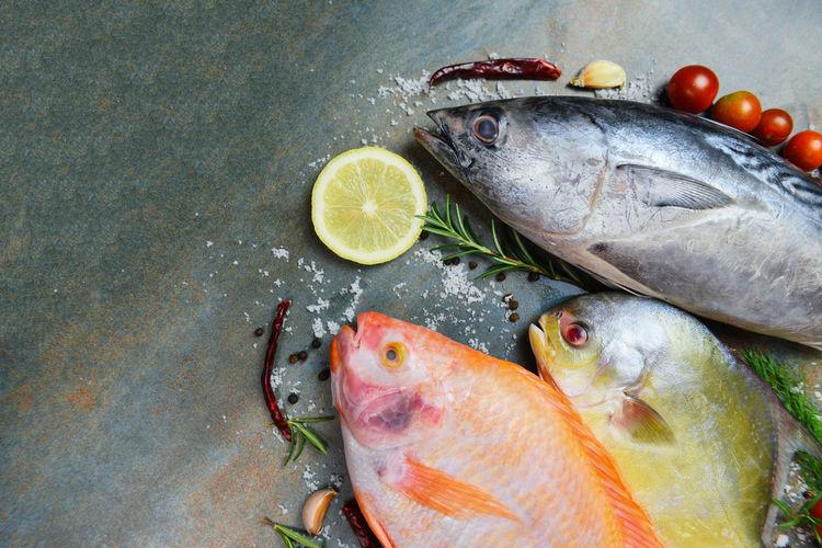 Fresh fish with