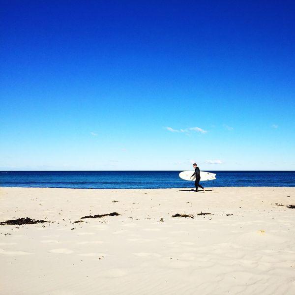The surfer Surfing Enjoying The Sun Beach Beautiful Day EyeEm Best Shots IPhoneography Vscocam Bondi