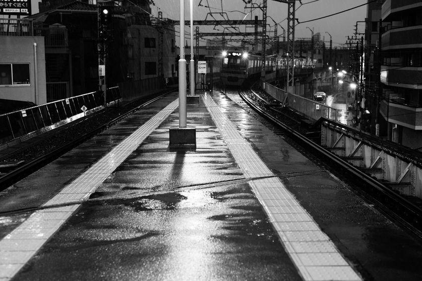 Here Belongs To Me Tokyo,Japan Tokyo Rain Rainy Days Train Train Station Machiya Blackandwhite Black And White Black Black & White Nightphotography Sony The City Light