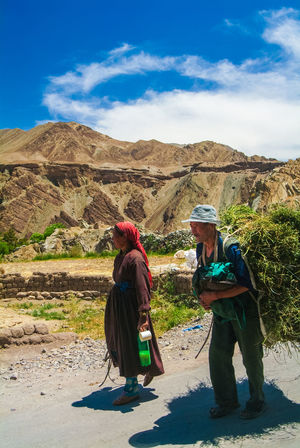 Himalayas India Jammu And Kashmir Ladakh Leh Mountain Outdoors Sky Travel Travel Destinations Two People