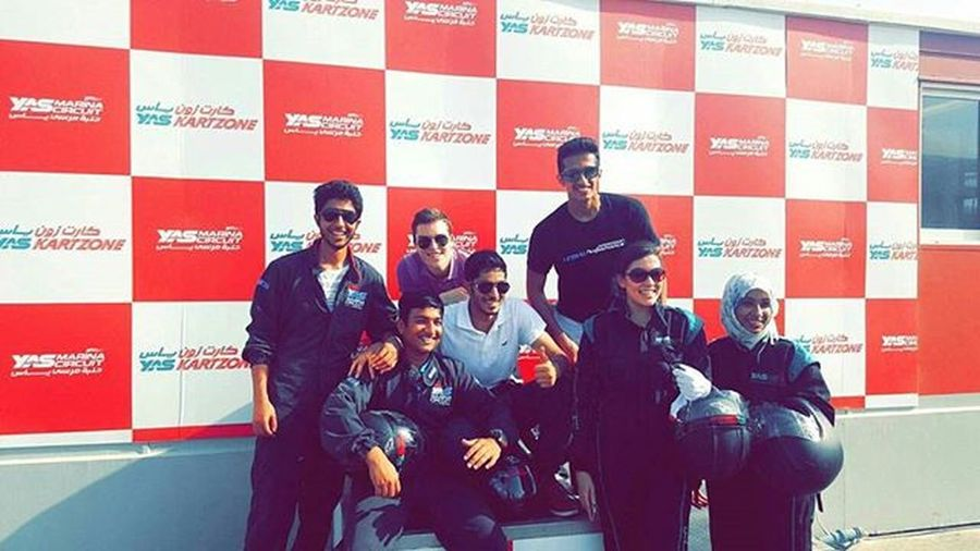 Karting YasMarinaCircuit Abudhabi the good days.. :)