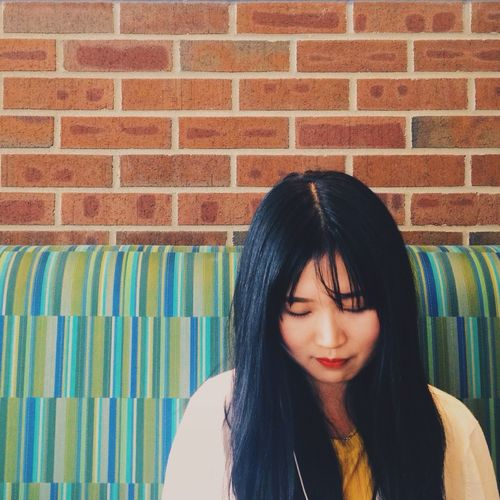 Girl Asian  Smile Portrait Vscocam IPhoneography Colors IPSMood