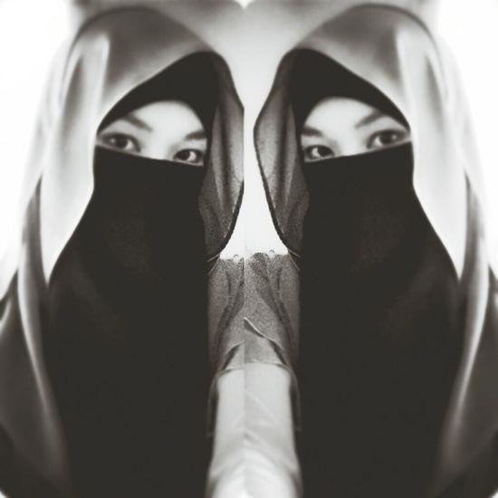 Niqab Blackandwhite Eyeseesall Goodnite Zzzzzz