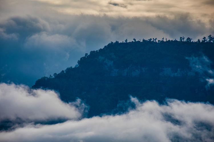 Cloud - Sky Sky Beauty In Nature Scenics - Nature Tranquility Tranquil Scene No People Nature Idyllic Day Low Angle View Outdoors Non-urban Scene Cloudscape Environment Majestic Dramatic Sky Sunset Blue Meteorology Champasak Laos LAO Nature Mist Fog Mountain Southernlaos