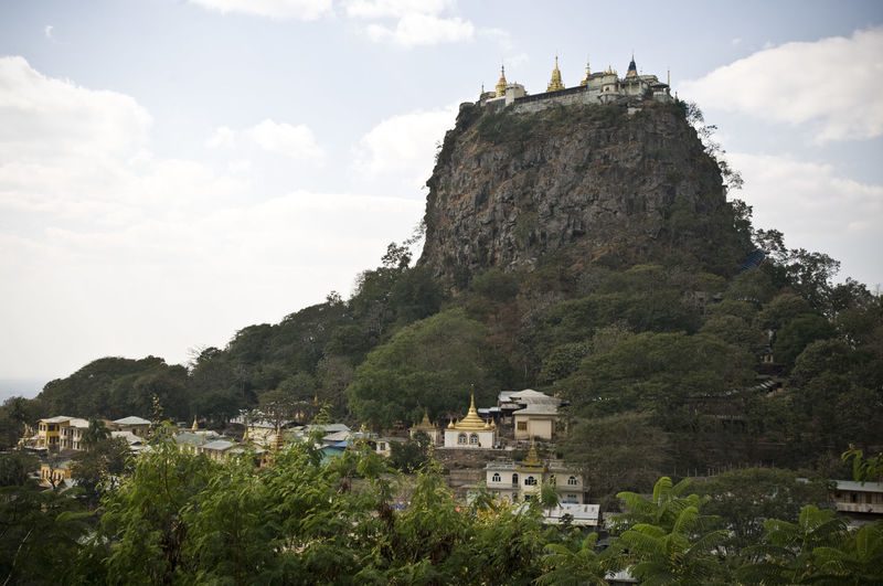 Temple of Taung Kalat // Myanmar Architecture Built Structure Cliff Cloud Cloud - Sky Day First Eyeem Photo Green Color Hill Mount Popa Mountain Mountain Range Myanmar Nature Outdoors Rock Rock - Object Scenics Sky Taung Kalat Temple Tranquil Scene Tranquility Travel Destinations Volcano