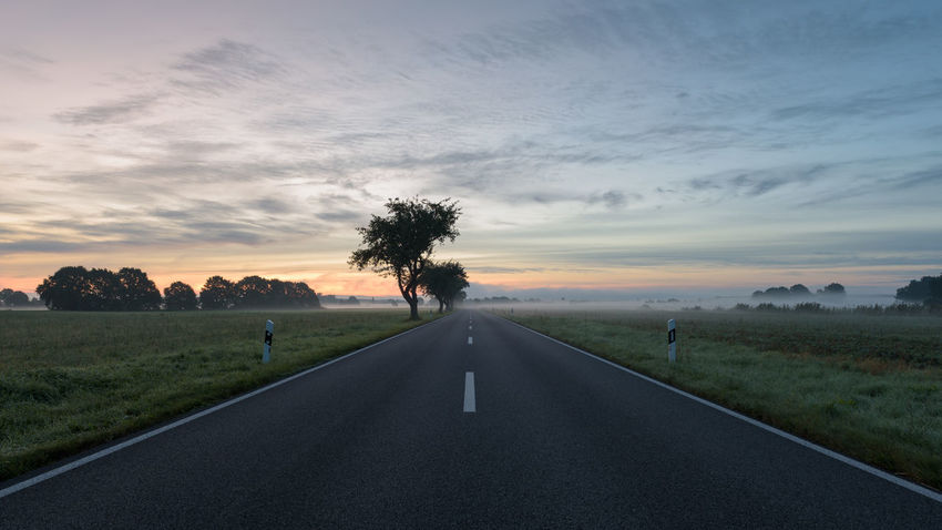 Havelland Germany Beauty In Nature Day Diminishing Perspective Grass Hohennauen Landscape Nature No People Outdoors Road Scenics Semlin Sky Sunset The Way Forward Tranquil Scene Tranquility Transportation Tree Westhavelland