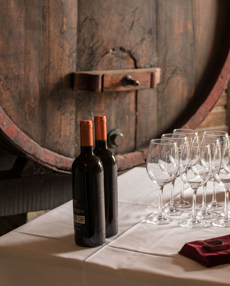 Napkin No People Red Wine Table Travel Destinations Travel Photography Wine Bottle Wine Cask Wine Not Wineglass Winery Winetasting