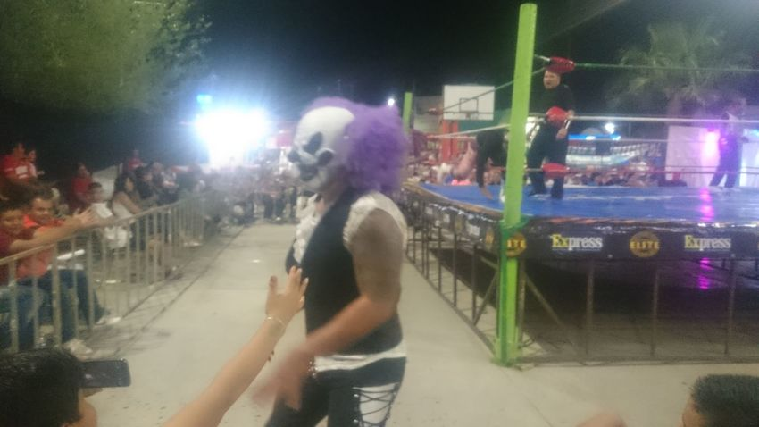 Night Blurred Motion Arts Culture And Entertainment People Large Group Of People Outdoors Crowd Leisure Activity Illuminated Lifestyles Nightlife Adult Adults Only Performance Real People City Women Men Young Adult Comarca Lagunera Luchadores Lucha Libre Mexican Wrestling Torreón, Coahuila Fun