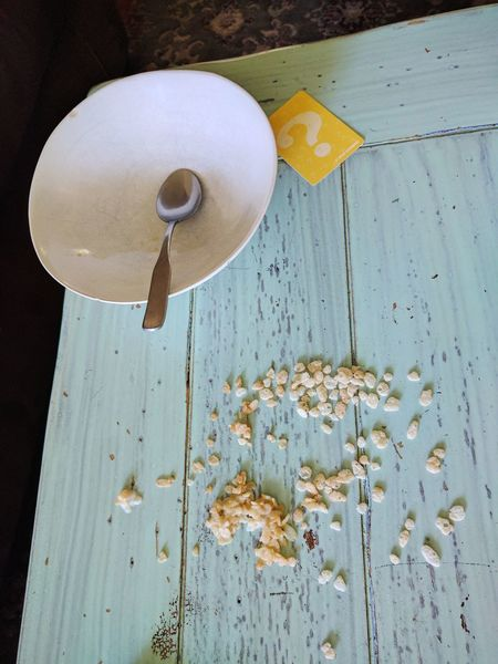 Huh... Wood - Material No People Day Close-up Indoors  Accident Spilt Cereal Spilt Milk