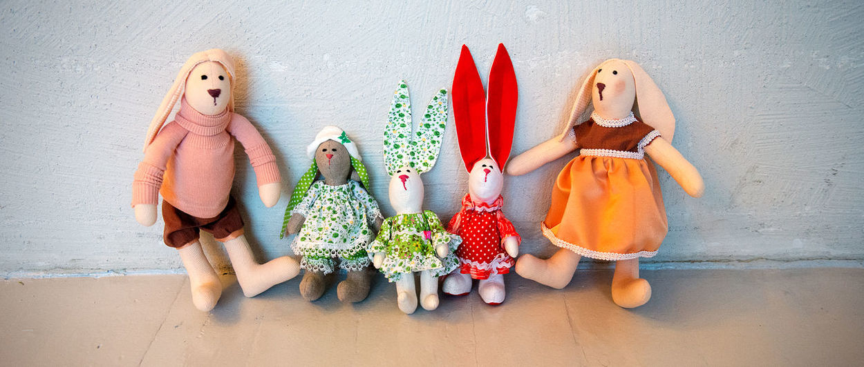 Background Business Finance And Industry Child Childhood Cloth Dolls Clothes Creative Design Detail Doll Doll Fashion Dolls Elements Fashion Five Dolls Friendship Girl Hand Work Industry Jolly Company Kid Multi Colored Toy Toys Work
