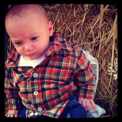 My little pumpkin! Pumpkinpicking Fall Mommasboy