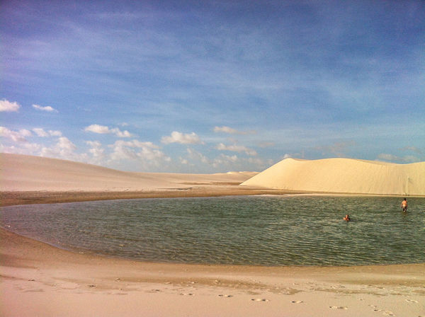 November 2014. Parque Lençóis Maranhenses. Most beautiful place. Dunes & lagoons. 700km long desert. A shame I only had my very old iPhone 4… But if you read me - you should go there and take proper pics! :) Brazil Deserts Around The World Dunes Hiking Horizon Lagoon Light And Shadow Mostbeautifulplace Remote Sand Travel Water