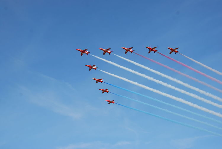 Red Arrows at Scottish Airshow 2015 Aircraft Airplane Airshow Flying Outdoors Red Arrows Scotland Sky