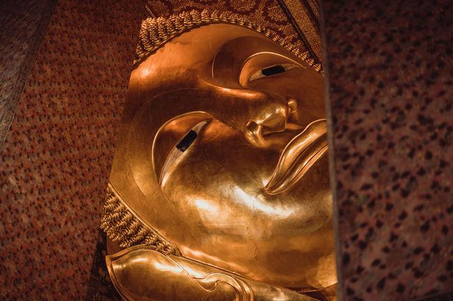 unseenthailand Antique Buddha Buddha Sleep Buddha Image In Morning Sunrise Buddha Statues Faith Gold Peaceful View Spirituality Buddha Statue Buddism Famous Place Religion And Beliefs Unseenthailand