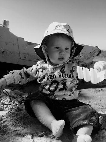 Childhood Happiness Outdoors Beach Life Sand & Sea Caloundra Golden Moment