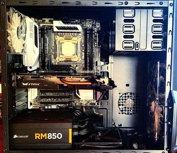 My Monster built!! X99 Deluxe Strix Gtx970 Corsair 850rm Zalman I7 5930k 6core H100gtx Computer PC Tecnology Ripjaws 2800mhz 16gb Power 3 .7ghz Overclockzone Overclocking Asus