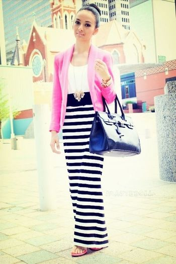 Pink White And Black