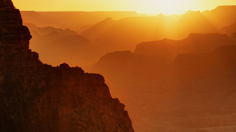 Scenic View Of Grand Canyon During Sunrise