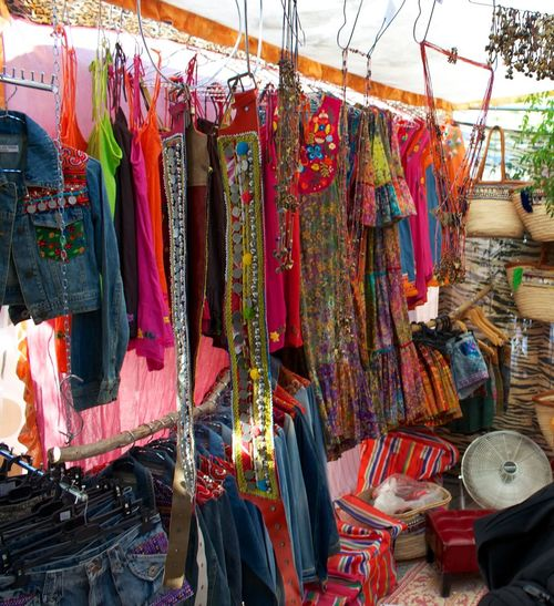 Bags Choice Collection Dresses Hanging Hippy Market Large Group Of Objects Las Dalias  hippy market San Carlos Ibiza Retail  Variation