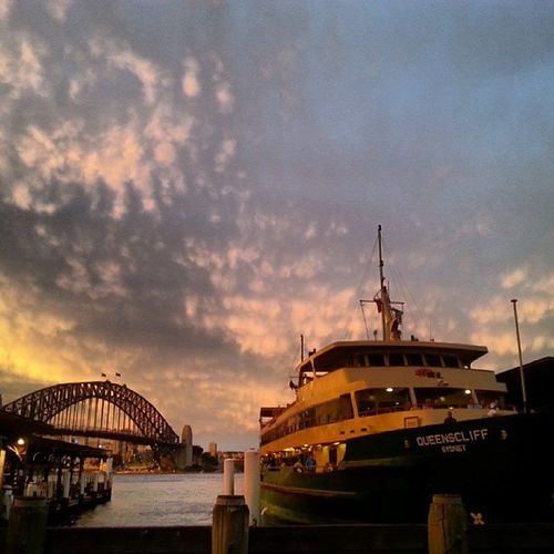 The Manly ferry is a wonderful commute any day of the year, but today she was particularly generous Gratitude Manly  SydneyHarbourBridge Manlyferry Sydney instagood sunset Australia