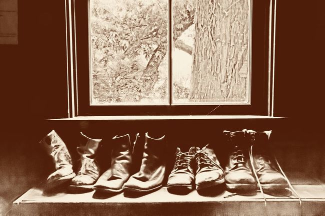 Vintage edit Shoe Window Pair Indoors  Home Interior Day No People Bedroom Soccer Shoe Close-up Vintage Photo Vintage Style Ladyphotographerofthemonth Old Fashion Room With A View Old Shoes Old Fashion Style Vintage Shoes In A Row Family Cozy Place