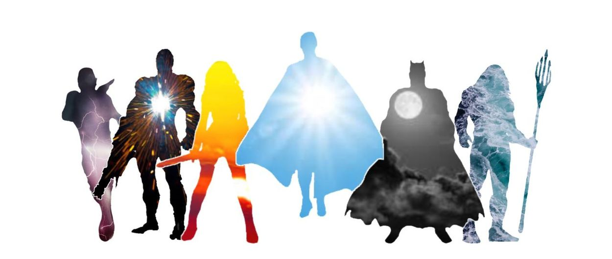 Justice League with white background Batman Flash The Flash Cyborg Wonder Woman Superman Dccomics DC Justice League EyeEm Selects White Background Studio Shot Multi Colored No People Day