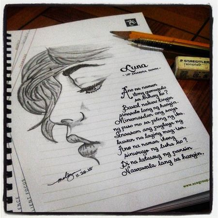 Got struck once again. This time I've incorporated words --lyrics to be exact. ✏ Sketches Pencil Profile Woman Luna Updharmadown KaARTehanNiMel DrawingNiMel Mythoughtsexactly
