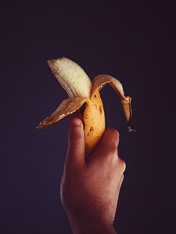 Food Stories EyeEm Selects Human Hand Holding Human Body Part One Person Food And Drink Banana Food Banana Peel Freshness Fruit Human Finger