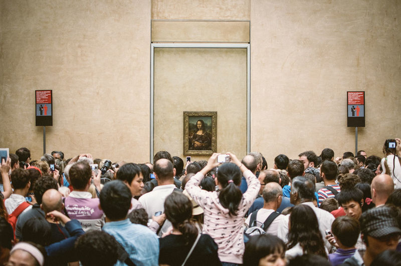 Adult Art Crowd Da Vinci Exhibit Day Gioconda Large Group Of People Louvre Men Museum Outdoors Painting Paris People People Together People Watching Photography Placard Real People Unity Wall Women The Week On EyeEm Editor's Picks
