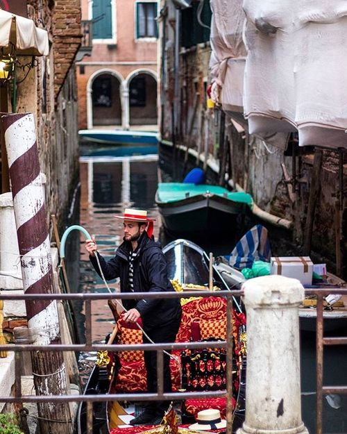 In my time in Venice I took dozens of photos of gondolas and didn't ride a single one. I liked the idea of gondolas more than actually using them, I was probably just being cheap though. Ryce POTD Venice Italy Travel Travelphotography Gondola