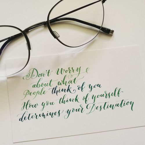 Text Eyeglasses  Close-up Lettering Handwriting  Handlettering Handwriting  Positivevibes Handwriting  Quotes Calligraphy Positive Vibes Eyeglasses  Calligraphyart Text Green Color Watercolor Watercolorletter
