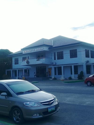 Municipal Building Mapandan Army Car Architecture Building Exterior Outdoors Day No People