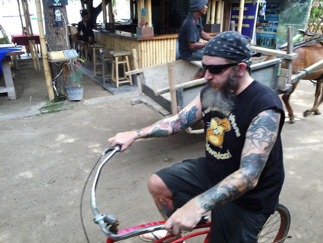 Bikers Biker Bikeride Hippie Check This Out Hanging Out Hello World Hi! Taking Photos Enjoying Life Capture The Moment IPhoneography Vacation Iphone6 Beautiful Smartphonephotography IPhone Taking Photos Check This Out Gili Trawangan Everybodystreet