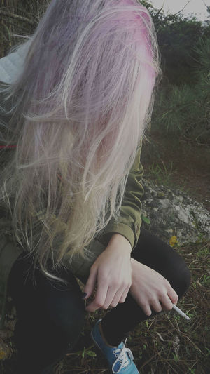 That's Me Relaxing I Miss My Hair  Like This Pale Fashion Hair miss my pink hair My Unique Style